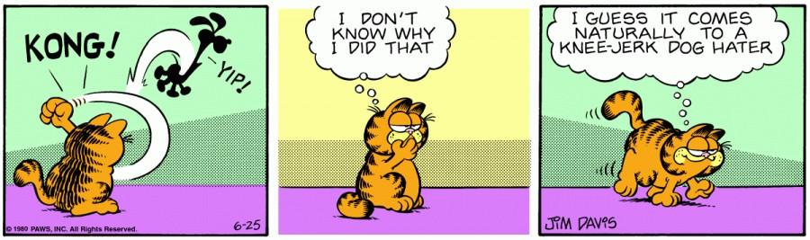 Оригинал комикса про Гарфилда от 25 июня 1980 года
