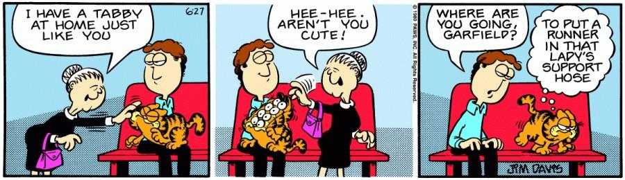 Оригинал комикса про Гарфилда от 27 июня 1980 года