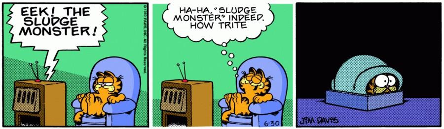 Оригинал комикса про Гарфилда от 30 июня 1980 года