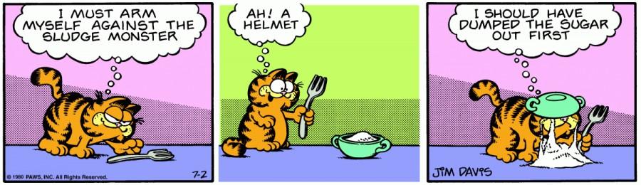 Оригинал комикса про Гарфилда от 02 июля 1980 года