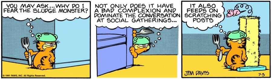 Оригинал комикса про Гарфилда от 03 июля 1980 года