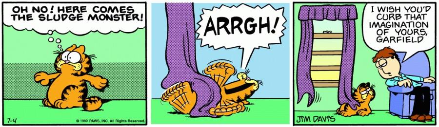 Оригинал комикса про Гарфилда от 04 июля 1980 года