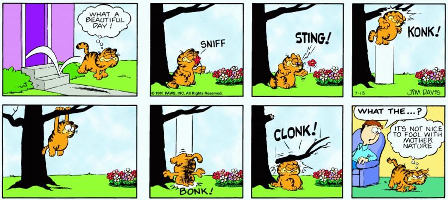 Оригинал комикса про Гарфилда от 13 июля 1980 года
