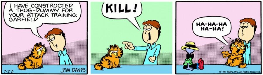 Оригинал комикса про Гарфилда от 22 июля 1980 года