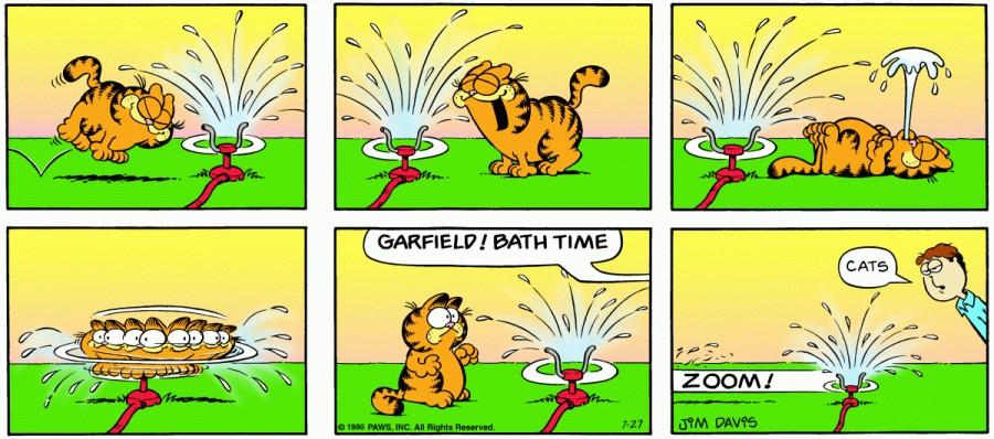 Оригинал комикса про Гарфилда от 27 июля 1980 года