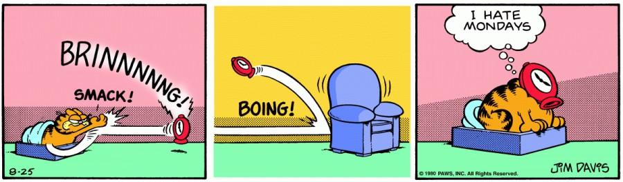 Оригинал комикса про Гарфилда от 25 августа 1980 года