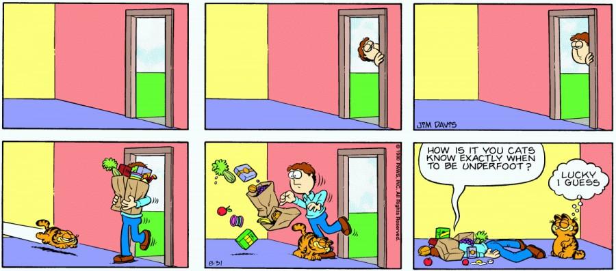 Оригинал комикса про Гарфилда от 31 августа 1980 года