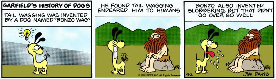 Оригинал комикса про Гарфилда от 02 сентября 1980 года