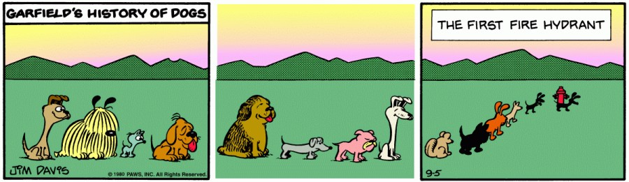 Оригинал комикса про Гарфилда от 05 сентября 1980 года