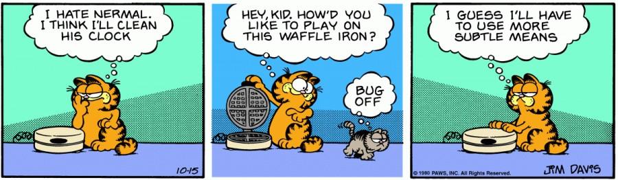 Оригинал комикса про Гарфилда от 15 октября 1980 года