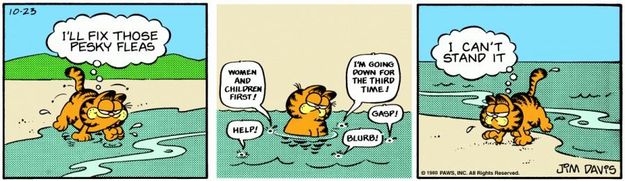 Оригинал комикса про Гарфилда от 23 октября 1980 года