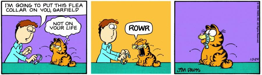 Оригинал комикса про Гарфилда от 24 октября 1980 года