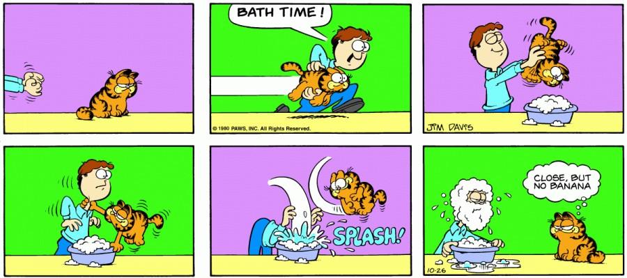 Оригинал комикса про Гарфилда от 26 октября 1980 года