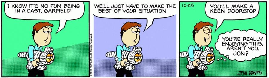 Оригинал комикса про Гарфилда от 28 октября 1980 года