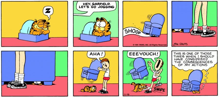 Оригинал комикса про Гарфилда от 16 ноября 1980 года
