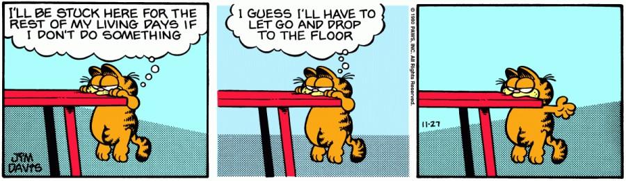 Оригинал комикса про Гарфилда от 27 ноября 1980 года