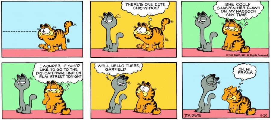 Оригинал комикса про Гарфилда от 30 ноября 1980 года