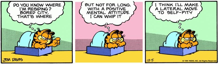 Оригинал комикса про Гарфилда от 05 декабря 1980 года