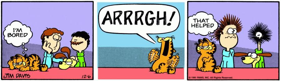 Оригинал комикса про Гарфилда от 06 декабря 1980 года