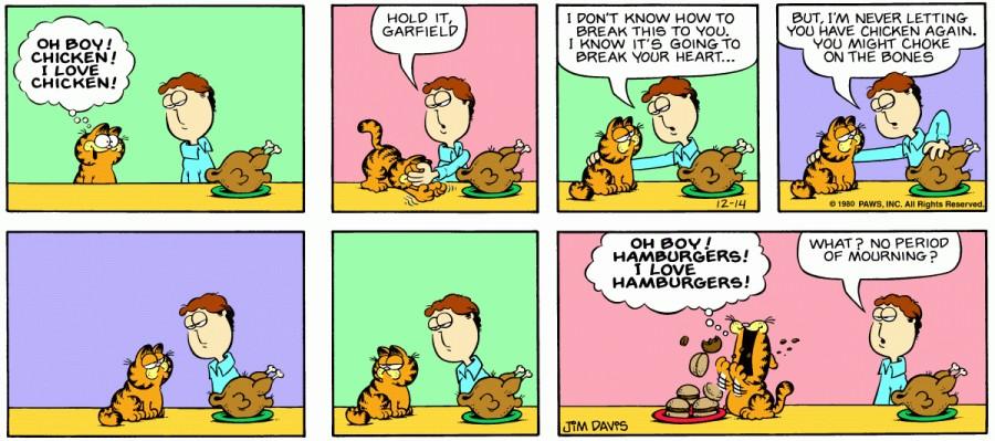 Оригинал комикса про Гарфилда от 14 декабря 1980 года