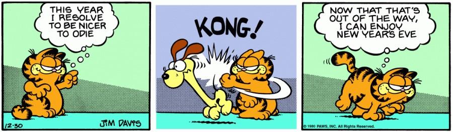 Оригинал комикса про Гарфилда от 30 декабря 1980 года