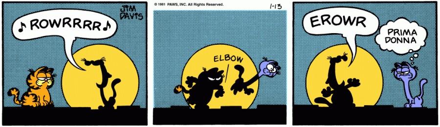 Оригинал комикса про Гарфилда от 13 января 1981 года