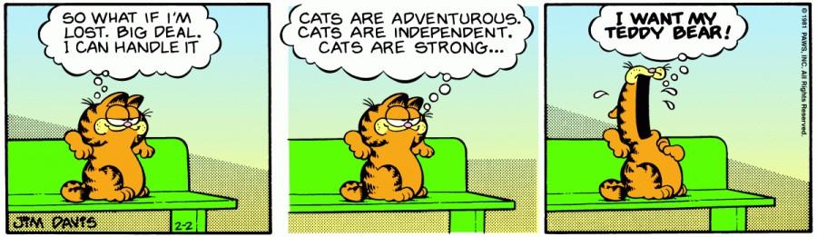 Оригинал комикса про Гарфилда от 02 февраля 1981 года