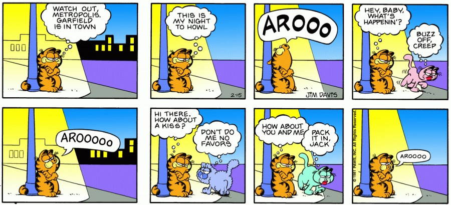 Оригинал комикса про Гарфилда от 15 февраля 1981 года