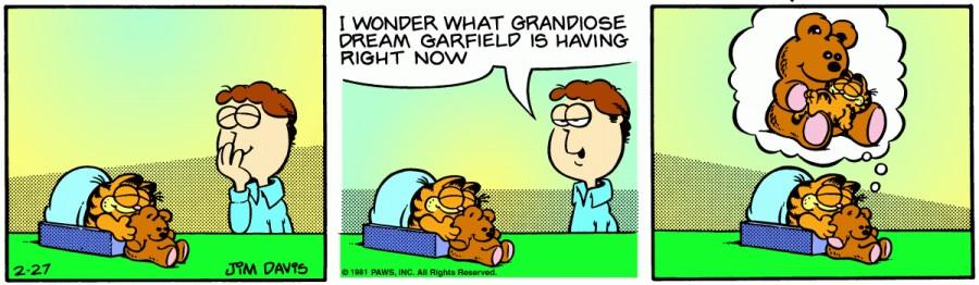Оригинал комикса про Гарфилда от 27 февраля 1981 года