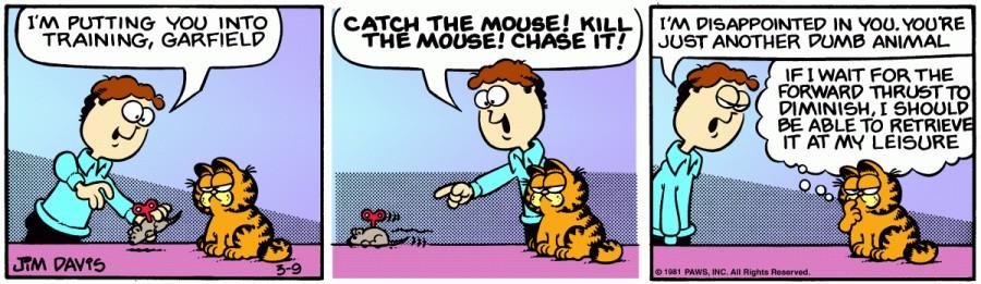 Оригинал комикса про Гарфилда от 09 марта 1981 года
