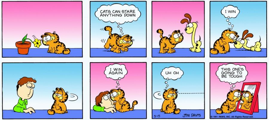 Оригинал комикса про Гарфилда от 15 марта 1981 года