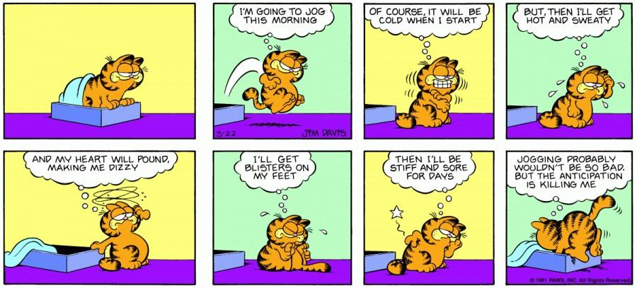 Оригинал комикса про Гарфилда от 22 марта 1981 года