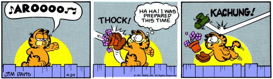 Оригинал комикса про Гарфилда от 24 апреля 1981 года