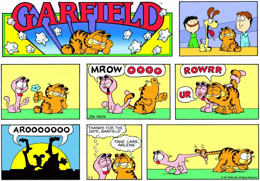 Оригинал комикса про Гарфилда от 03 мая 1981 года