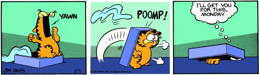 Оригинал комикса про Гарфилда от 04 мая 1981 года