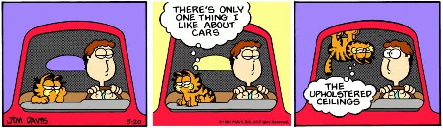 Оригинал комикса про Гарфилда от 20 мая 1981 года