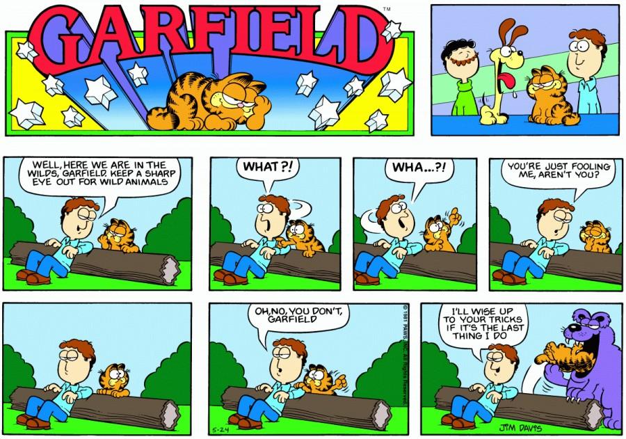 Оригинал комикса про Гарфилда от 24 мая 1981 года