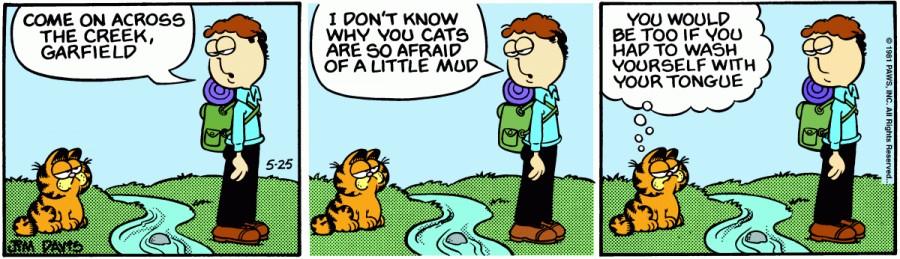 Оригинал комикса про Гарфилда от 25 мая 1981 года