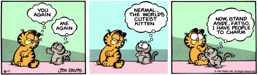 Оригинал комикса про Гарфилда от 01 июня 1981 года