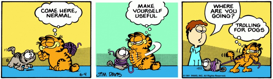 Оригинал комикса про Гарфилда от 04 июня 1981 года