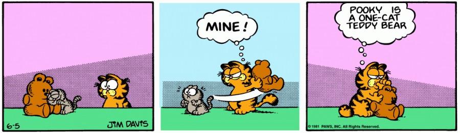 Оригинал комикса про Гарфилда от 05 июня 1981 года