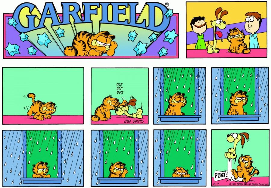 Оригинал комикса про Гарфилда от 07 июня 1981 года