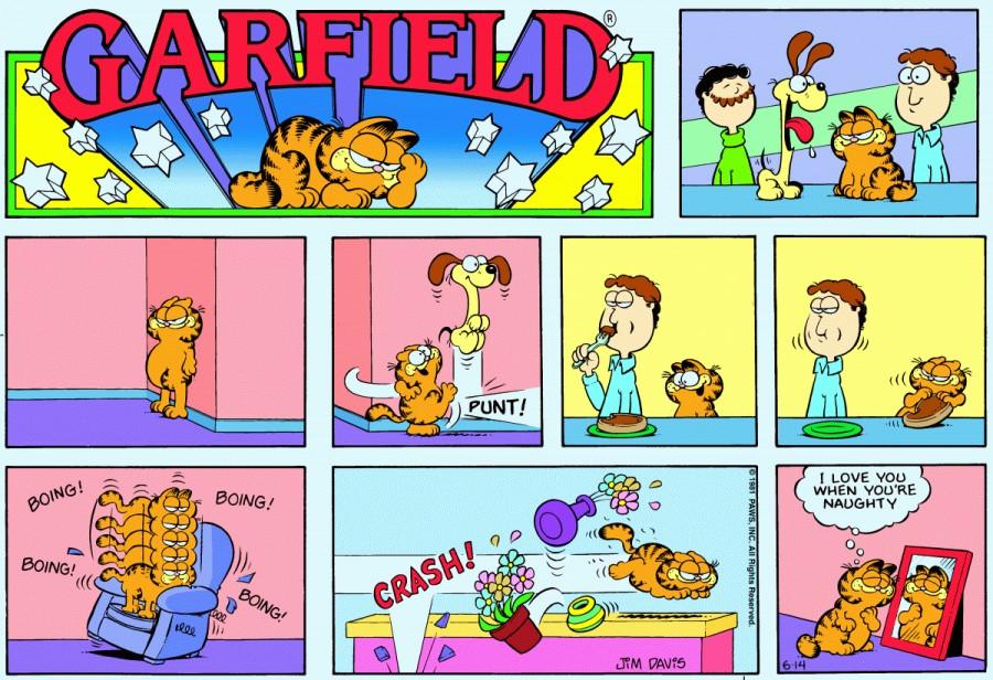 Оригинал комикса про Гарфилда от 14 июня 1981 года