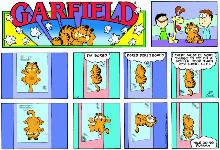 Оригинал комикса про Гарфилда от 21 июня 1981 года