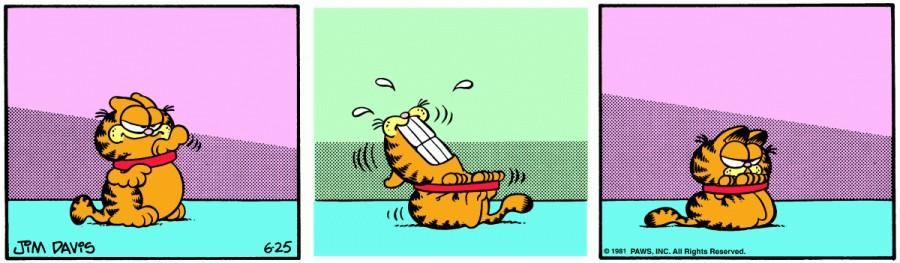 Оригинал комикса про Гарфилда от 25 июня 1981 года