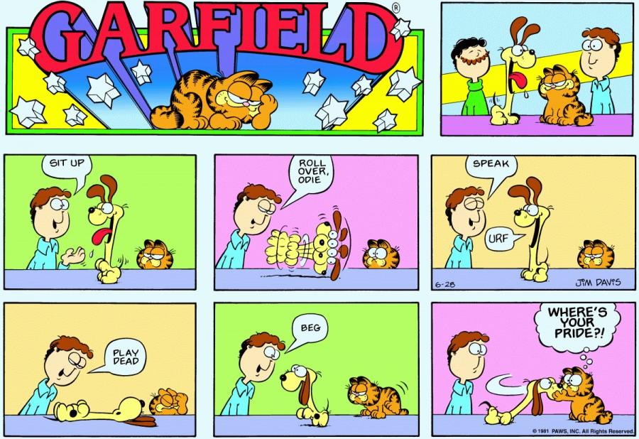Оригинал комикса про Гарфилда от 28 июня 1981 года