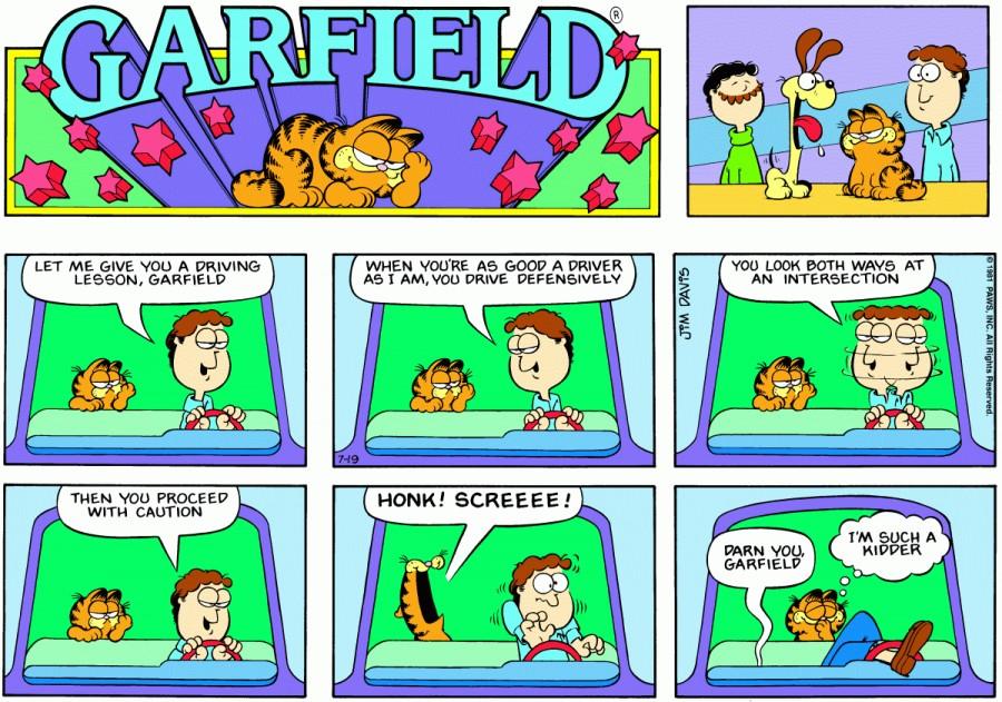 Оригинал комикса про Гарфилда от 19 июля 1981 года