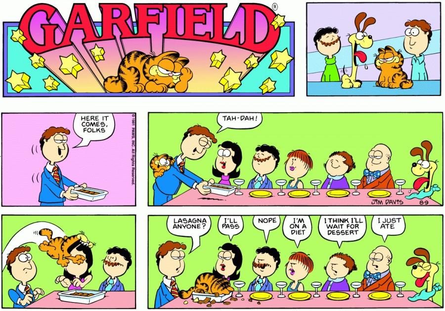Оригинал комикса про Гарфилда от 09 августа 1981 года