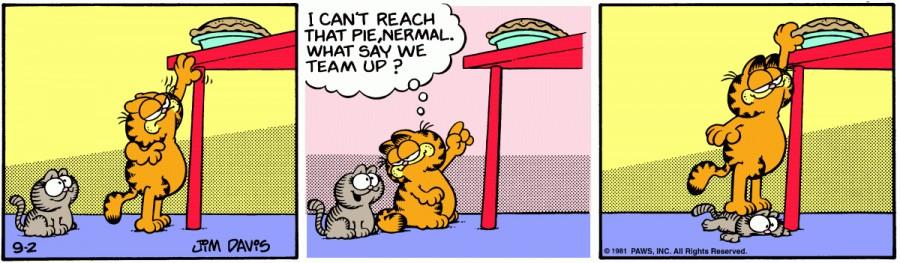 Оригинал комикса про Гарфилда от 02 сентября 1981 года