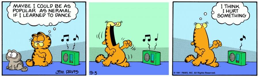 Оригинал комикса про Гарфилда от 03 сентября 1981 года
